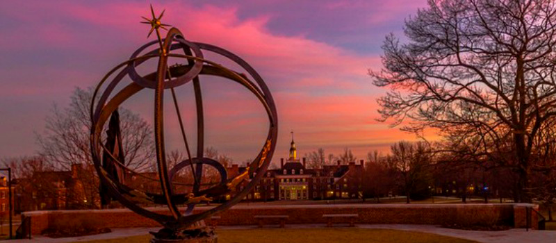 Globe at Miami University campus