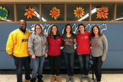 Our Miami Alums from left to right: Reggie Holland '94, Ann Feichter (Proudfoot) '98, Lisa Schmach (Butler) '02, Jennifer McHugh '94, Angela Magnes (Dinallo) '01