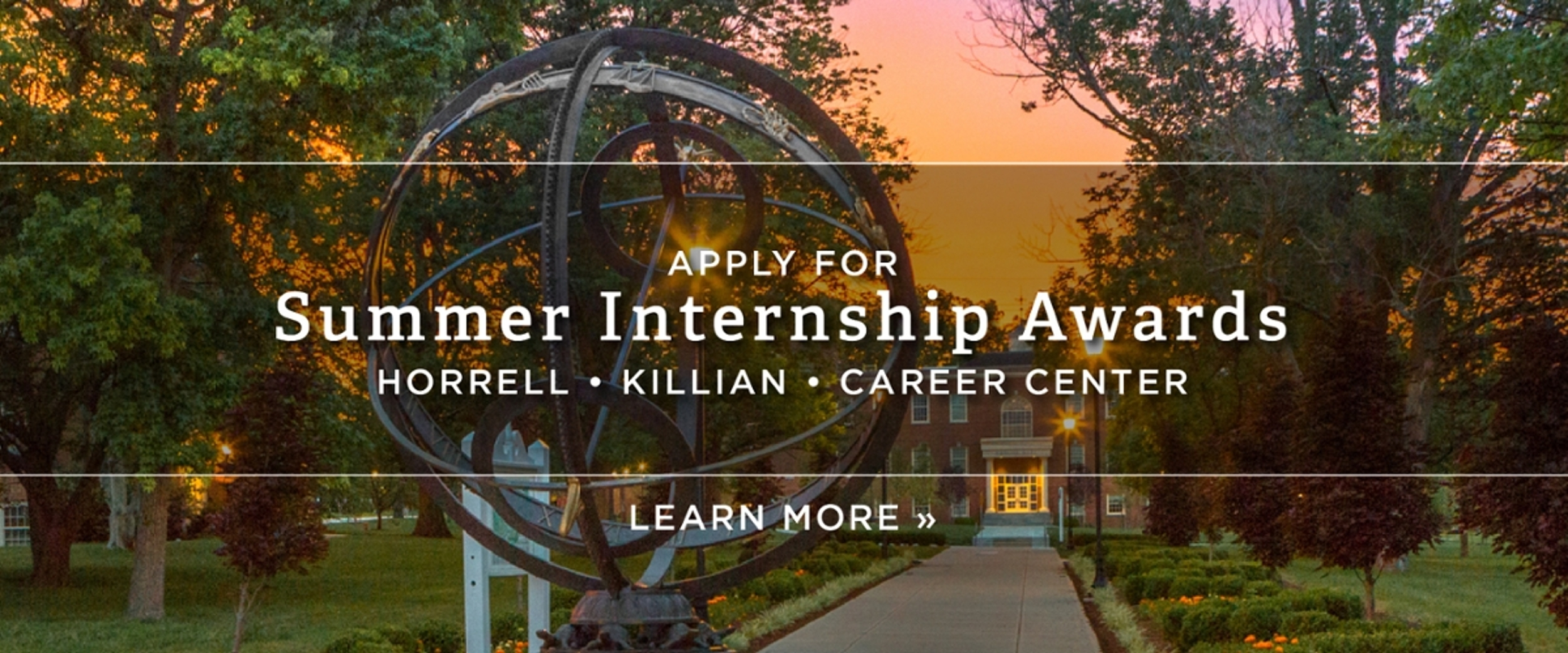 Apply for Summer Internship Awards