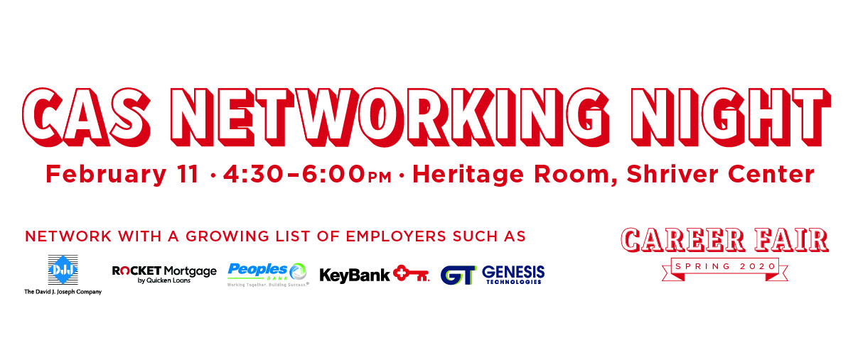 CAS Networking Night on February 11 at Shriver Heritage Room