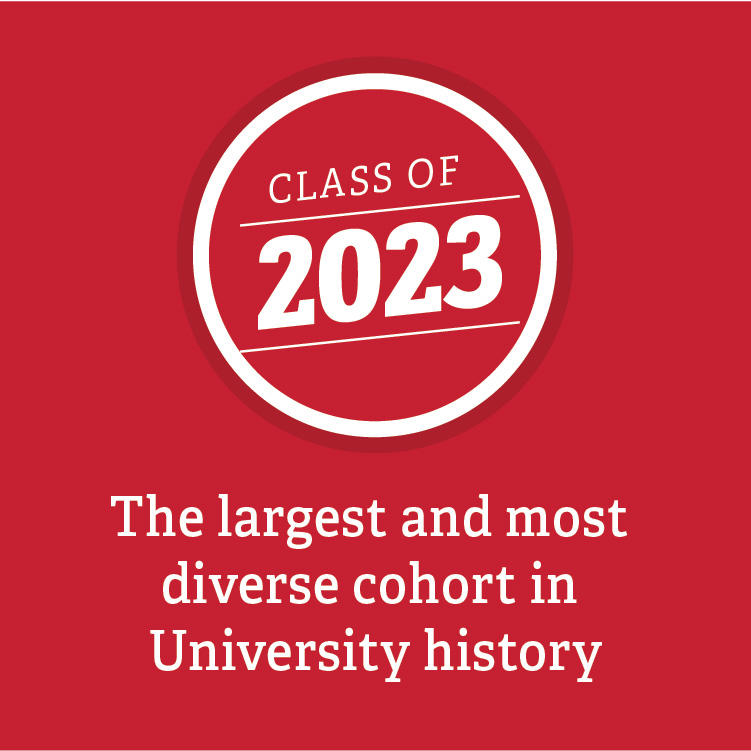 Class of 2023- the largest and most diverse cohort in University history