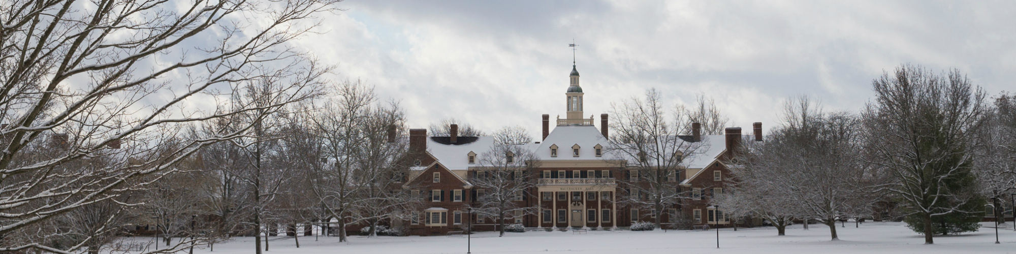 MacKracken Hall in winter