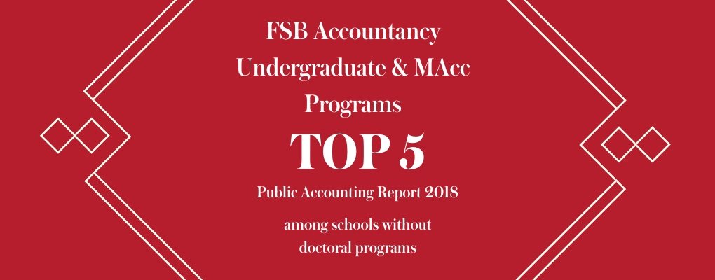 Accountancy top 5 among programs without doctoral programs