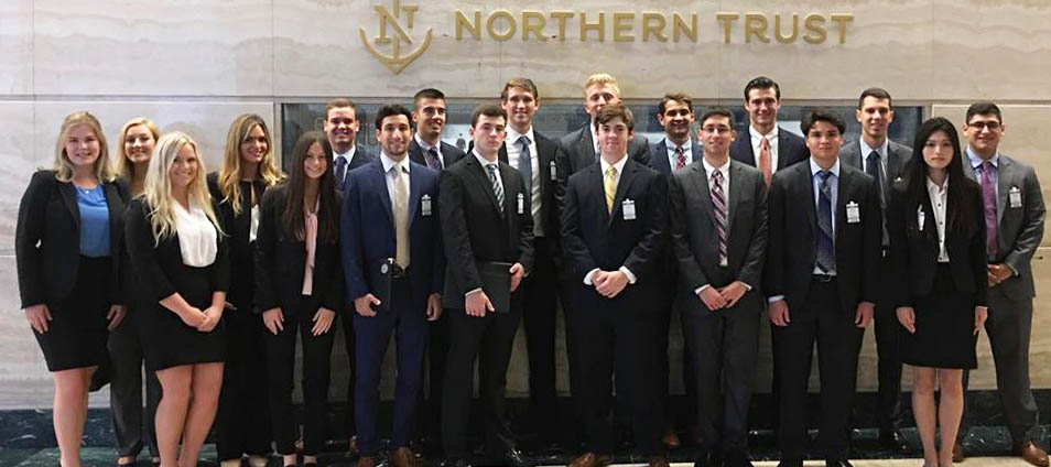 Chicago Week participants pose for photo at Northern Trust