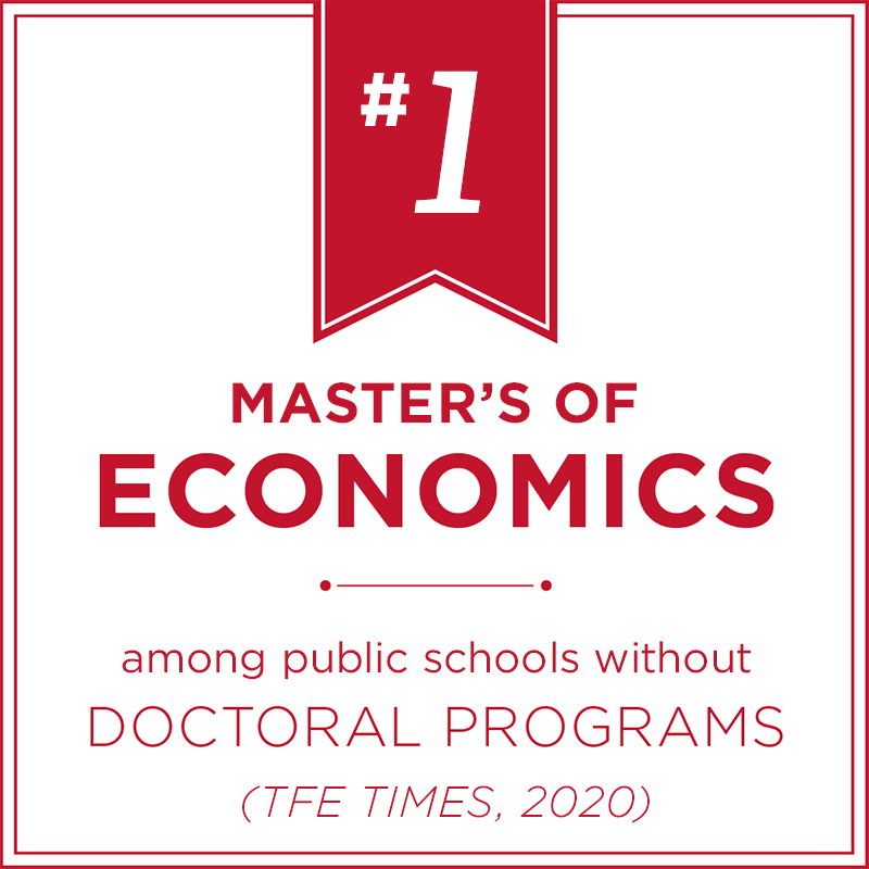 Top 3 Master of Economics among schools without doctoral programs - Financial Engineer