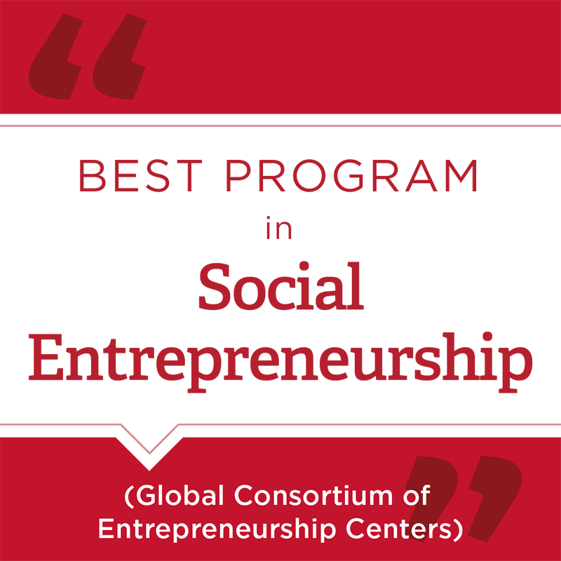 Best Program in Social Enterpreneurship - Global Consortium of Entrepreneurship Centers