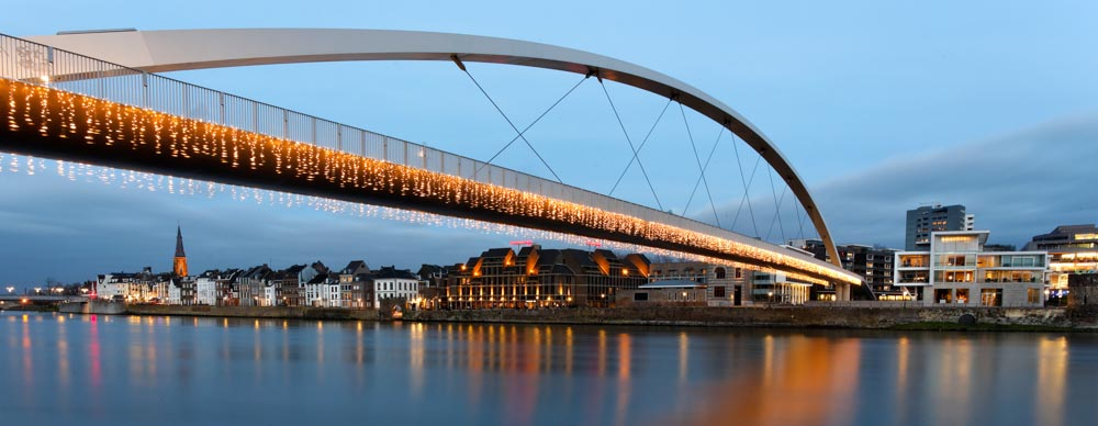 River and bridge in Maastricht