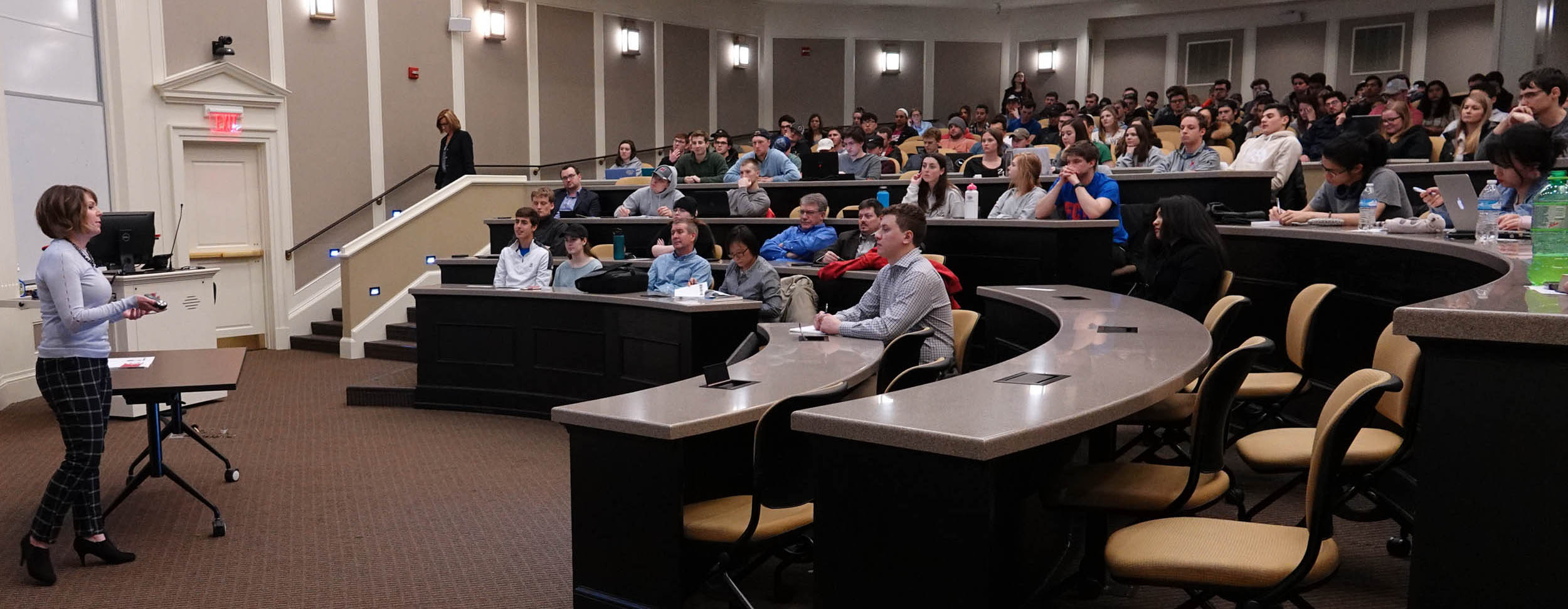 Supply chain speaker in Taylor Auditorium