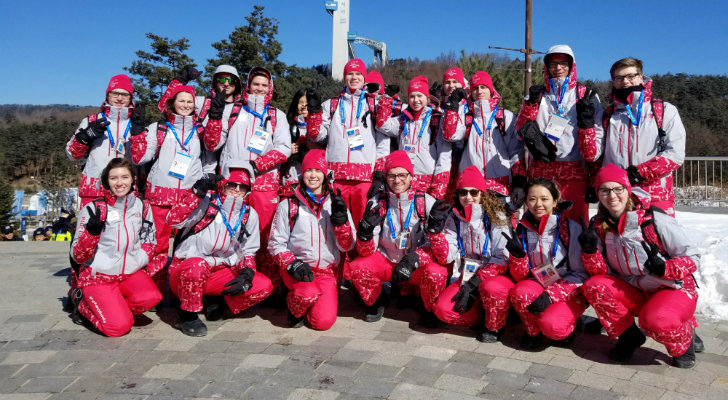 Miami FSB students at the 2018 Olympics in Korea.