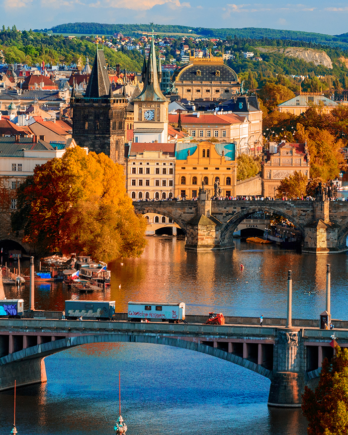 Vltava River and Charle bridge, Prague