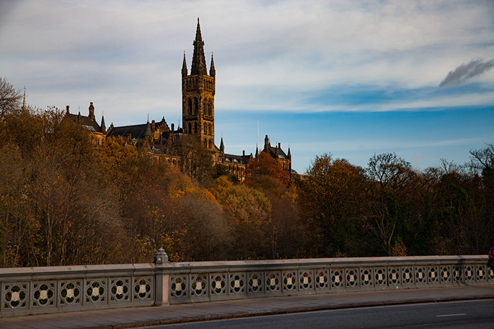 University of Glasgow building near river