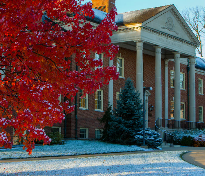 Roudebush Hall in the Fall/Winter
