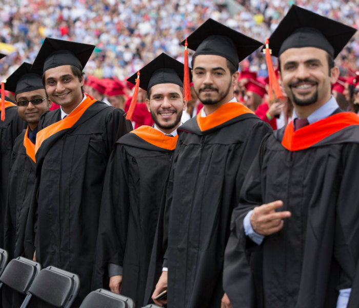 Group of Master's Computer Science students at May Commencement