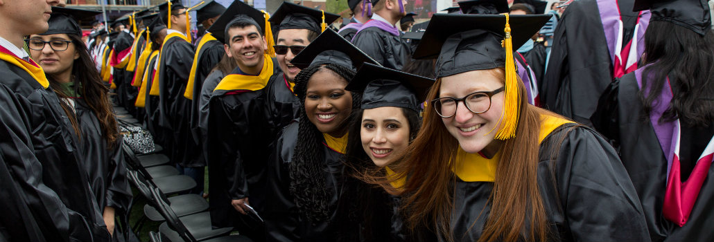 Group of Student Affairs in Higher Education master's students at graduation