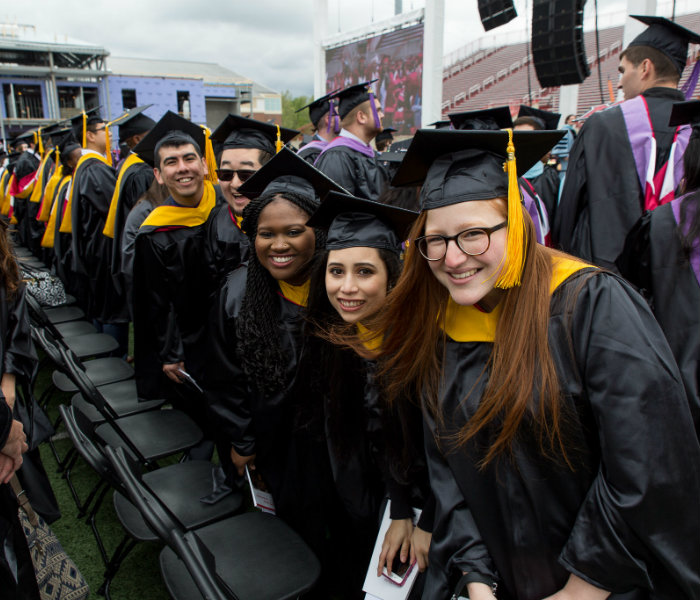 Group of Master's students at commencement