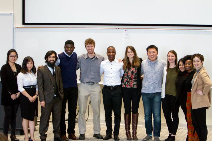 Group of graduate students who participated in the Redhawk Talks