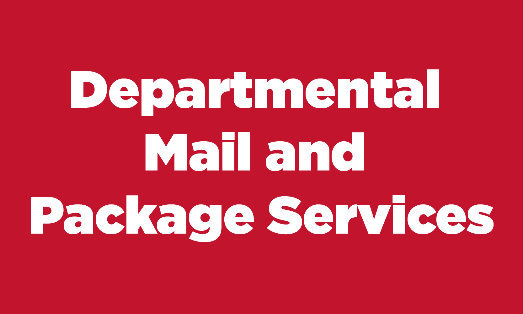 Departmental Mail and Package Services