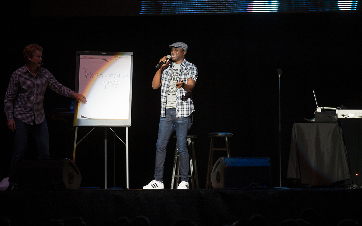 Wayne Brady performing at Millett