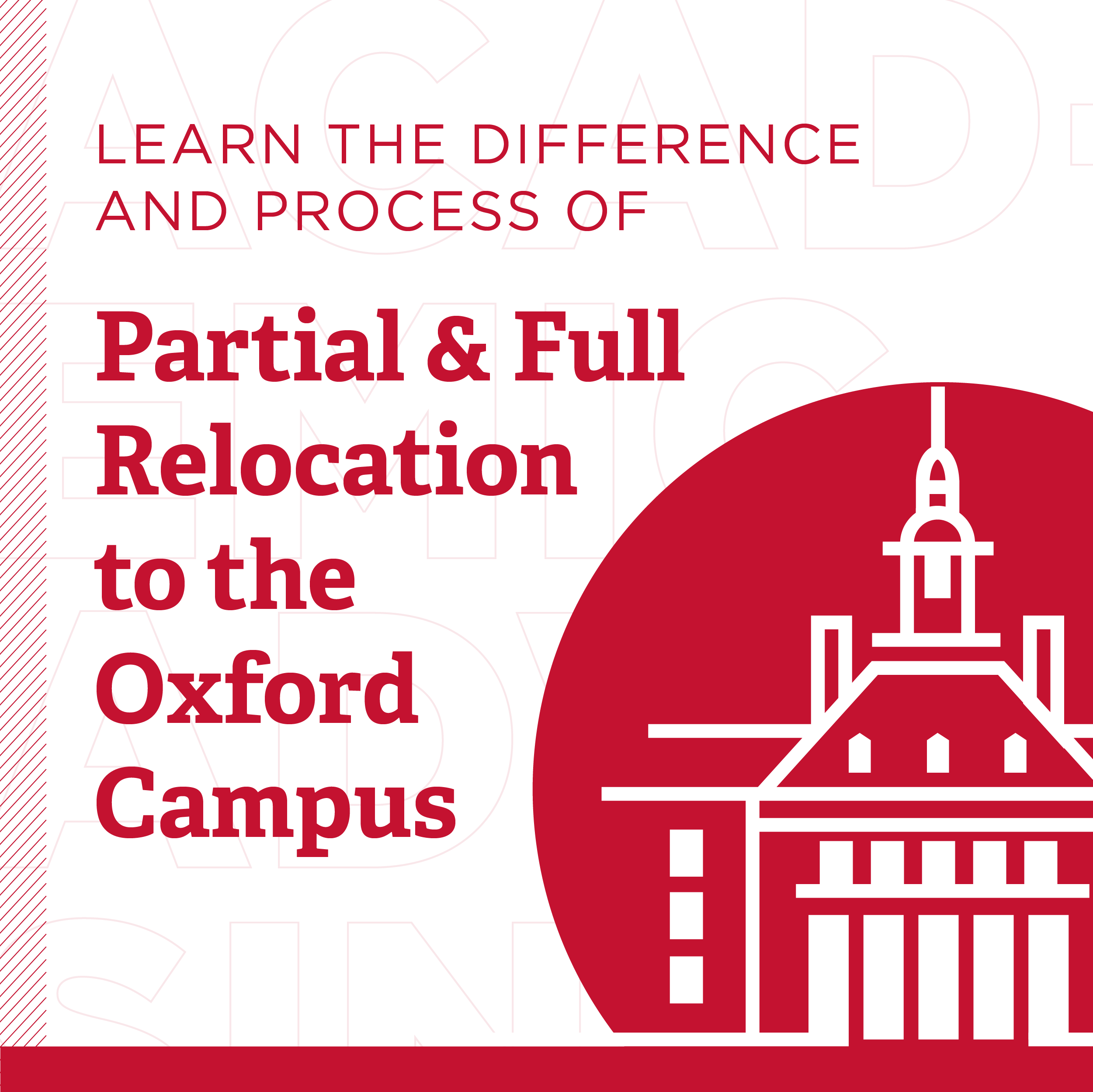 Learn the Difference and Process of Partial and Full Relocation to the Oxford Campus, Image of a building in Oxford