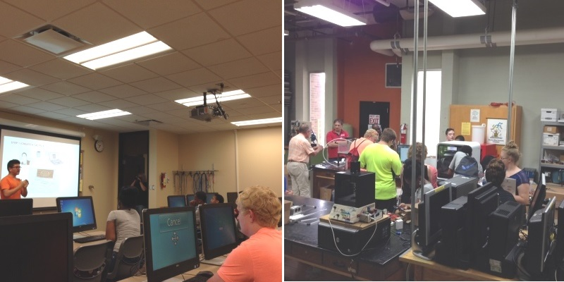 Tech Prep session at Hamilton campus in June 2015. Local high school students get familiar with new technologies, engineering tools; and also get involved in hands-on experience.