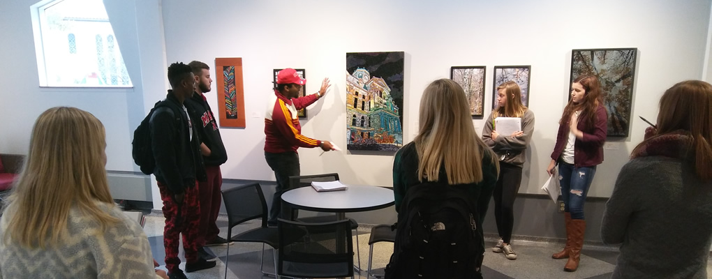 Students visiting the Fitton Center for Creative Arts