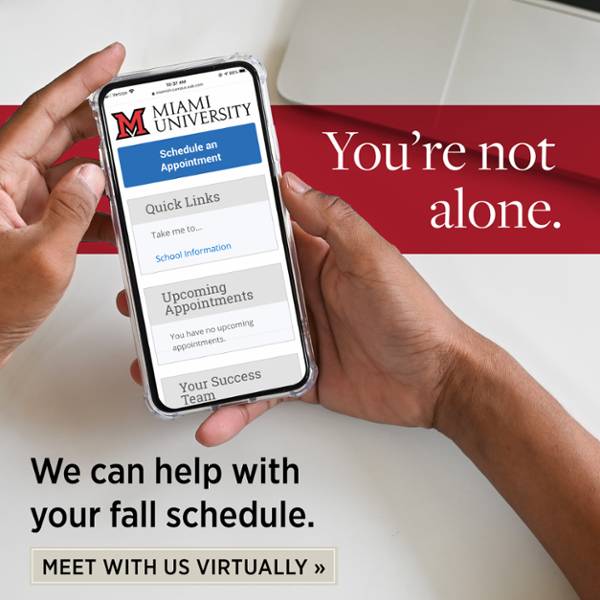 You're not alone. We can help with your fall schedule. Meet with us Virtually.
