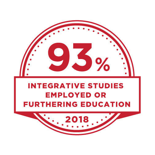 93% Integrative studies employed or furthering education.