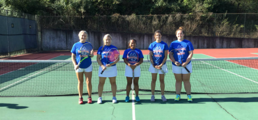 Miami Middletown women's tennis team picture 2018