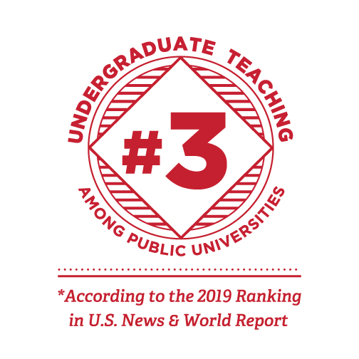 Undergraduate teaching #3 among public universities. According to the 2019 Ranking in the U.S. News and Work Report.
